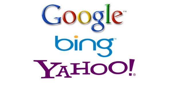 Bing, Google, Yahoo