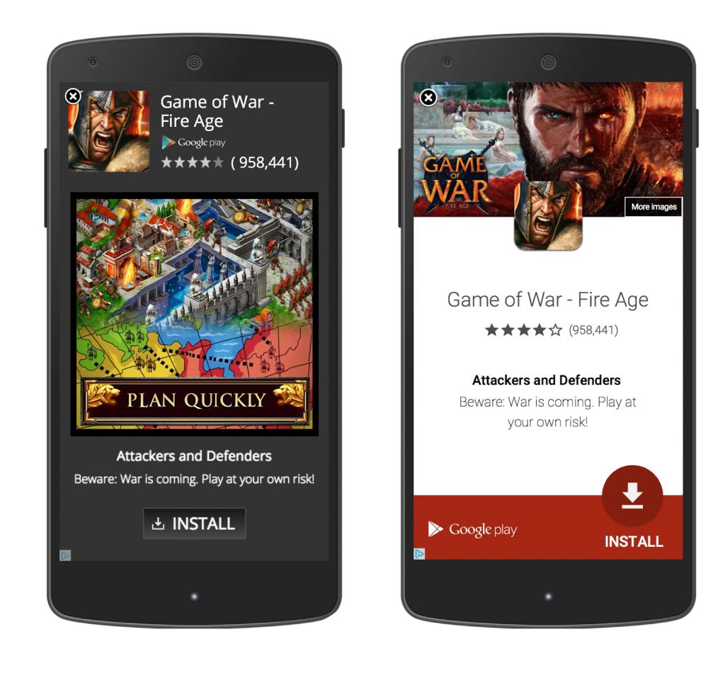 AdWords App install hirdetések: előtte és utána