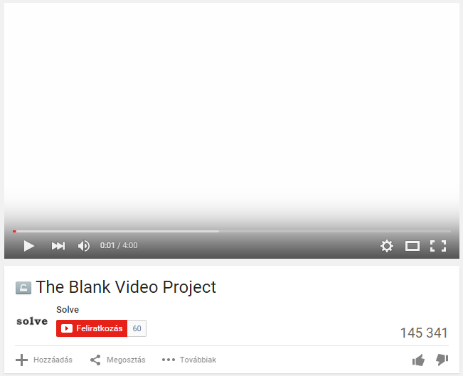 YouTube: Blank video project