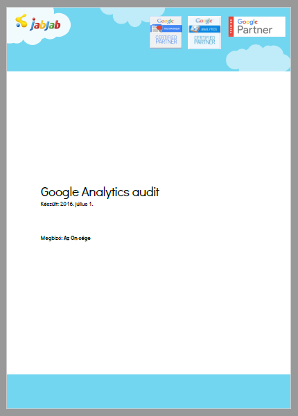 Google Analytics Audit minta