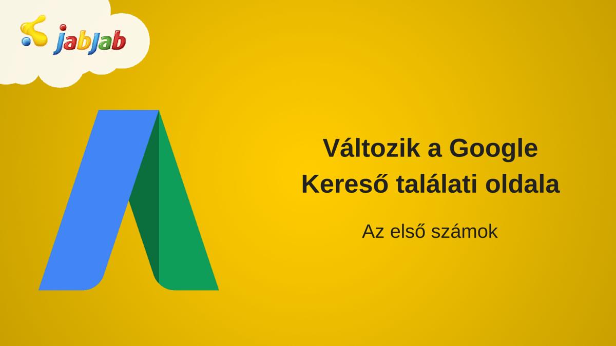 Változik a Google Kereső találati oldal: az első számok