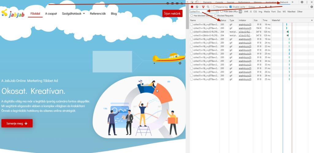 Működnek-e a Google Analytics mérések a weboldalamban?
