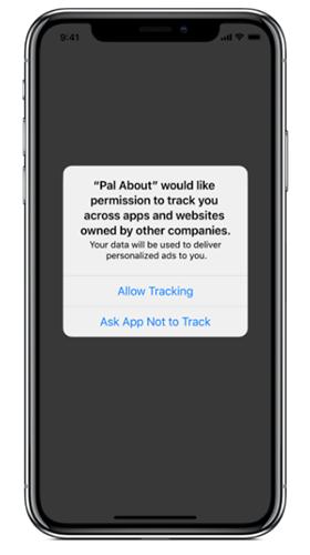 Apple iOS 14 hozzájárulás kérés képernyő