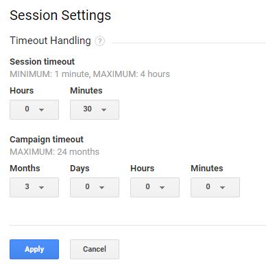 Google Analytics - Campaign timeout