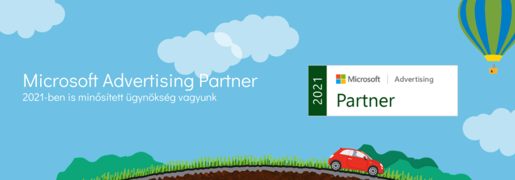Microsoft Advertising Partner ügynökség vagyunk 2021-ben is